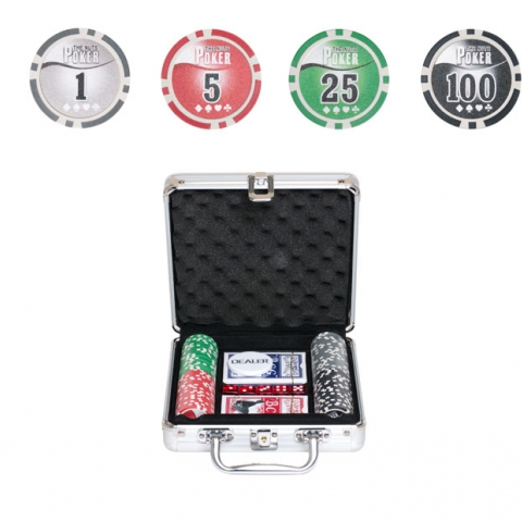 Покерный набор на 100 фишек Nuts