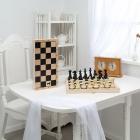 Шахматы гроссмейстерские пластмассовые с доской (400*200*60)