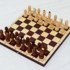 Шахматы обиходные парафинированные с темной доской (290 х 145 х 38)