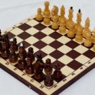 Шахматы турнирные лакированные в комплекте с темной доской (400 х 200 х 55)