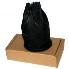 Домино D6 в черном кожаном мешочке