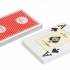 """Игральные карты  для покера """"Texas Holdem"""" (100% пластик Jumbo Index) красные"""