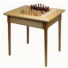 Стол шахматный светлый 800*600*720 с фигурами (простые ножки)