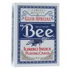 Игральные карты Bee №77 Jumbo (Пчела №77 Джамбо), 54 л. синие