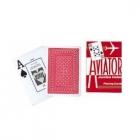 Игральные карты Aviator Jumbo (Авиатор), красные 54 л.