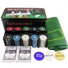 """Покерный набор """"Holdem Light""""  (200 фишек  4 гр., 2 колоды ) с номиналом"""
