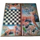 """Нарды-шашки """"Леопарды"""" 60х60"""