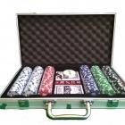 Набор Покер в алюм. кейсе на 300 фишек с номиналом