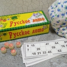 Русское лото (картонная коробка) деревянные бочонки+карточки