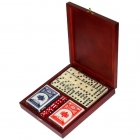 Игровой набор: домино, 2колоды карт, кости