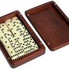 Домино D6  в деревянной шкатулке без флока