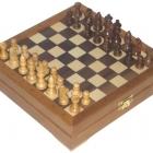 Шахматы мини деревянные