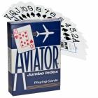 Игральные карты Aviator Jumbo (Авиатор), синие  54 л.
