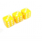 Кости игральные пластиковые, 12 мм, 1 шт, цвет желтый